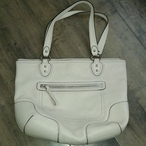 2fddddfc97d0 Coach Bags - Coach Almost brand new Coach white leather bag